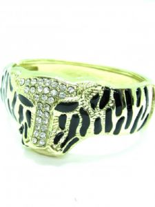 Crystal Gold Tiger Bangle
